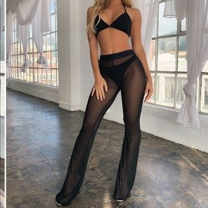 Mesh pants and suit
